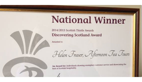 Helen Fraser - award winning Scottish tour guide